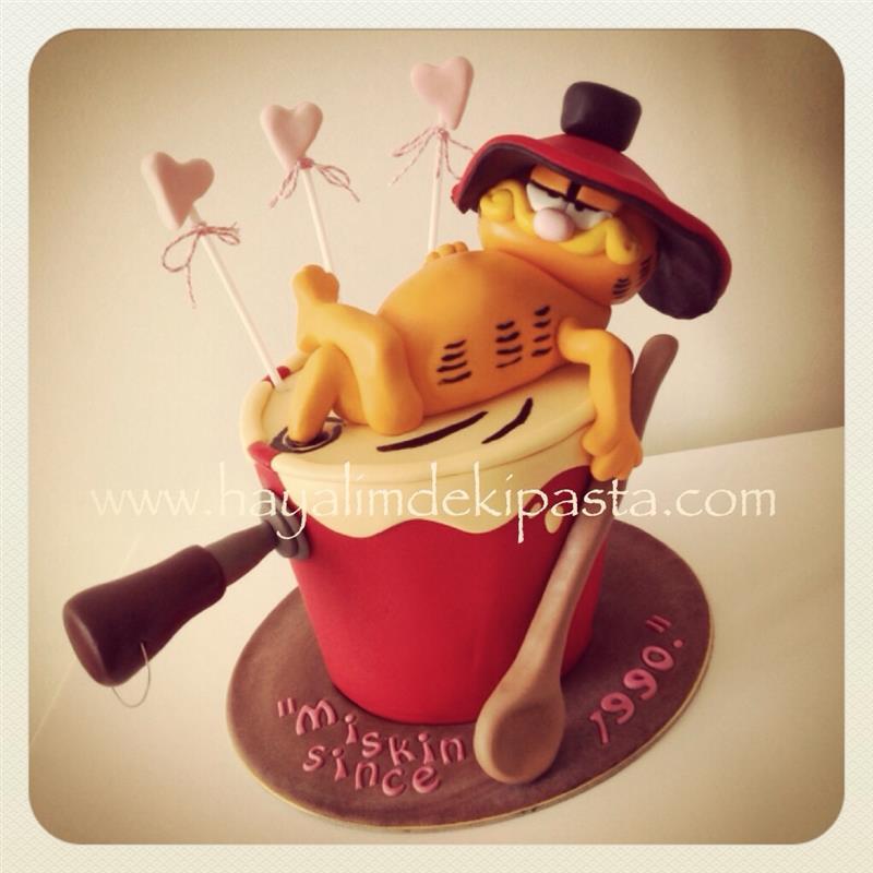 Pin Garfield Birthday Cake And