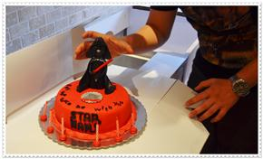 star wars - darth vader cake